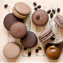 Макаронс с шоколадно-кофейным вкусом