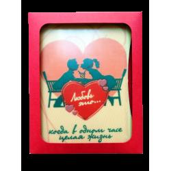 """Шоколадная открытка """"Любовь это"""""""