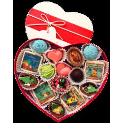 Сердце новогоднее с пожеланиями