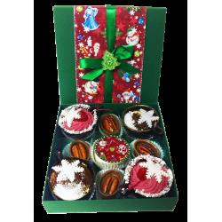 """""""Зимние узоры"""" коробка конфет ручной работы, малый размер"""