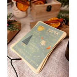 """Шоколадная открытка """"Зима-это время"""""""