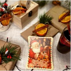 """Шоколадная открытка """"Дед Мороз"""""""