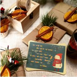 Пусть будет Новый год чудесным шоколадная открытка