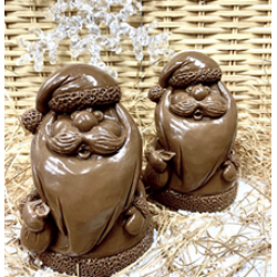 Дед мороз шоколадная скульптура