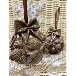 Шоколадный шар скульптура ручной работы.