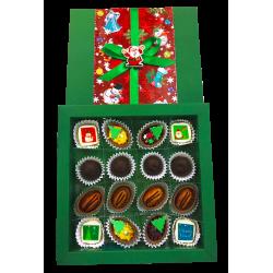 """""""Зимние узоры"""" коробка конфет ручной работы, большой размер"""