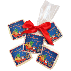 """Конфета с изображением """"Дед Мороз и олени"""""""