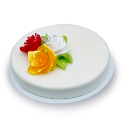 Торт Яркая роза